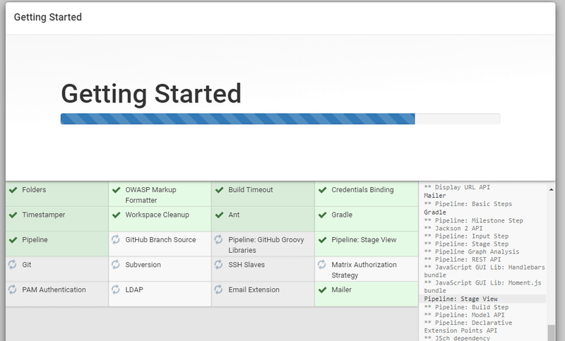 Jenkins Getting Started - Installing Plugins
