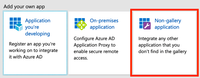 Azure AD New Application Type